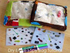 Dry Erase I-Spy Bag Tutorial