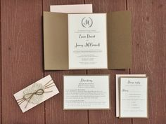 DEPOSIT: The Gettin' Hitched Suite Rustic por SecondCityStationery