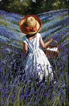 Bluebell Haven by Sherree Valentine Daines // From exVAT - Prints & Sculptures Aesthetic Painting, Aesthetic Art, Art Mignon, Art Drawings Sketches, Painting & Drawing, Art Oil Paintings, Cute Art, Pretty Art, Art Inspo