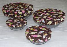 Reusable Bowl Covers--I love Ice Cream design