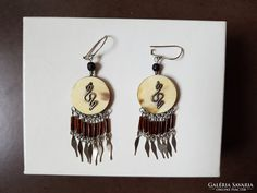 Kundalini ezüst-szaru kézműves fülbevaló Silver Jewellery, Jewelry, Drop Earrings, Personalized Items, Jewlery, Jewerly, Schmuck, Drop Earring, Jewels