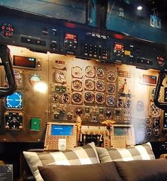 The Airplane Cockpit Themed Bedroom