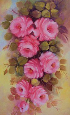 Pintando rosas com Lourdes Silva ( 2ª parte)