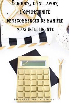 """""""Echouer c'est avoir l'opportunité de recommencer de manière plus intelligente"""" #citation #reussite #businessgirlacademy"""