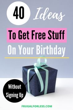 First of all – happy birthday! Or soon to be birthday! Birthdays are very special days that should be recognized. That's why many companies offer free stuff on your birthday without signing up! Free Birthday Gifts, Birthday Freebies, Birthday Songs, Birthday Stuff, It's Your Birthday, Happy Birthday, Free Coupons By Mail, Free Samples By Mail, Free Books By Mail