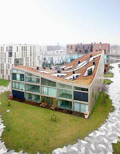 """Blok K"" - no bairro Het Funen em Amsterdam, Holanda"