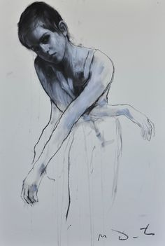 """""""Emma 3"""" by Mark Demsteader. As part of a series he did with Emma Watson for a charity event. Pastel and collage."""