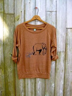 me and mama Elephant Shirt, Mother's Day Gift, Slouchy Pullover, Yoga Top, S,M,L,XL. $36.00, via Etsy.