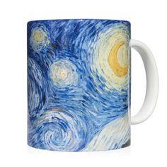 Mug starry night - Taza noche estrellada Vincent Van Gogh - Kessler Museum Merchandising ( · · Mug Art, Van Gogh Paintings, Vincent Van Gogh, Fashion Art, Art Work, Museum, Mugs, Night, Clothing