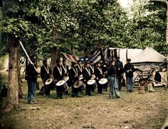 Bealeton, Virginia, drum corps of the 93rd New York Infantry, ca. August of 1863