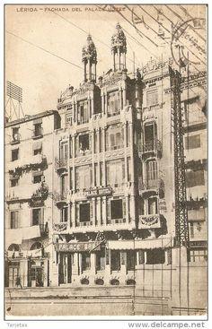 POSTAL DE LERIDA DE LA FACHADA DEL PALACE HOTEL