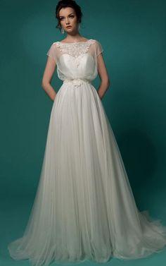 Свадебные платья нью ампир - http://1svadebnoeplate.ru/svadebnye-platja-nju-ampir-3702/ #свадьба #платье #свадебноеплатье #торжество #невеста