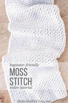 Video Tutorial: How to Crochet the Moss Stitch