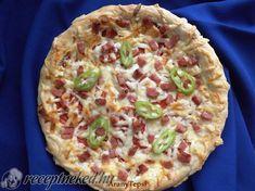 Egyszerű szalonnás pizza Hawaiian Pizza, Food, Hoods, Meals