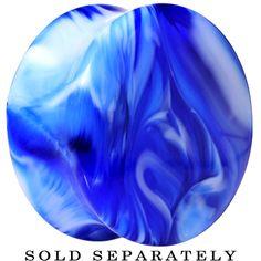 "1"" Acrylic Blue and White Marbled Saddle Plug | Body Candy Body Jewelry #bodycandy"