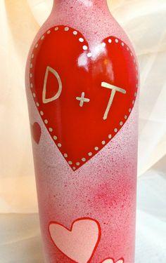 Valentine's Day Wine Bottle / Cute & Classy Wine by Hinzpirations