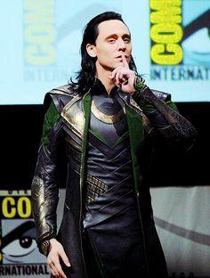 #TomHiddleston as #Loki at San Diego Comic Con