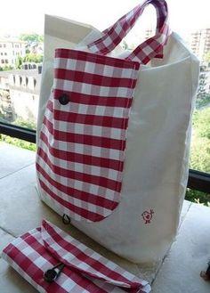 ce1236d9e Las bolsas abatibles - shoppery (los patrones). // Lina Neva Bolsa Ecologica