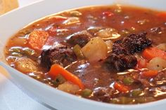 healthy hearty beefless stew