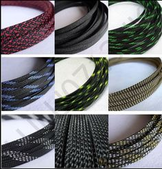3mm~25mm Black Braided polyester sleeving Cable sleeve Cover. 3mm-16mm FOR BLACK, BLACK BLUE, BLACK SILVER. Braided polyester sleeving Cable Cover. Three weave, High densely. If you buy 4m. The cable sleeve will cut in One Piece x 4m. | eBay!