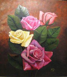 Rosa al óleo