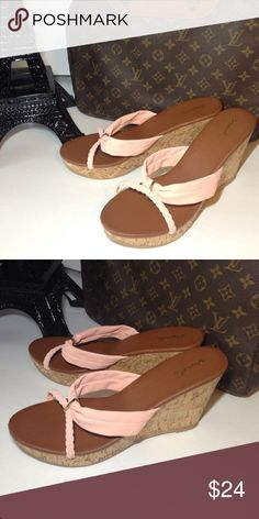NEW Qupid pink wedge sandles size 10 womens NEW Qupid pink wedge sandles size 10 womens Shoes Sandals