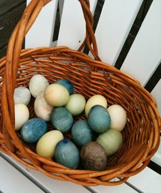 Start in the kitchen! Easter Egg Dying with Natural Ingredients | Random Recycling: http://randomrecycling.com/natural-egg-dyeing-with-kitchen-leftovers-2/
