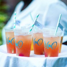 Monogrammed cups for
