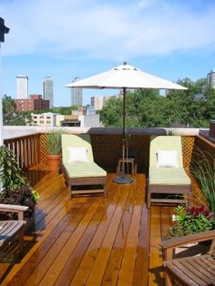 Gorgeous Finish on Roof Deck