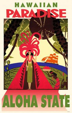 Vintage travel poster - Hawaii