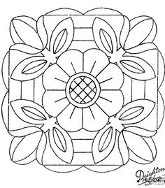 Mandala de tulipes - would like as a quilt block