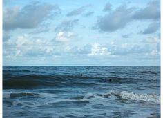 swimming in the ocean.   My favorite swimming pool.
