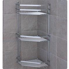 Chrome Satina Hanging Rectangle Corner Shower Caddy Bathroom Shelf Basket Tidy