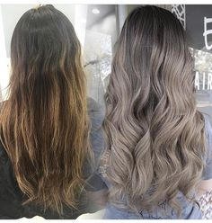 Long Wavy Ash-Brown Balayage - 20 Light Brown Hair Color Ideas for Your New Look - The Trending Hairstyle Blond Ash, Ash Brown Hair Color, Hair Color And Cut, Light Brown Hair, Ombre Hair Color, Cool Hair Color, Dark Hair, Ashy Hair, Brown Hair Balayage