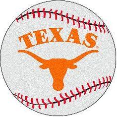Fanmats Texas Longhorns Baseball-Shaped Mat