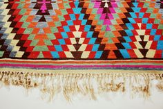 Vintage Turkish Kilim Rug... I think that you could make a quilt look like this.. it would be challenging but way cute!