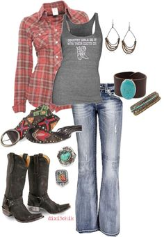 Country girls do it with boots on. Country Girl Outfits, Country Girl Style, Country Fashion, Cowgirl Outfits, Western Outfits, Western Wear, Country Girls, Country Casual, Country Chic