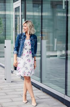 LOVIKA | 40 Stylish denim jacket outfit ideas to wear this Spring with dress