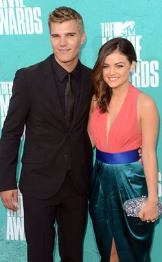 Lucy Hale with her ex boyfriend Chris Zylka. She dated him from January to September 2012