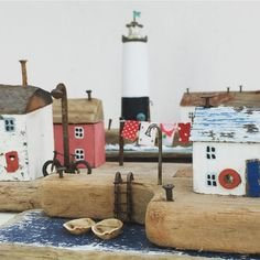 Goodness, these months go by fast! Time for another shop update, tonight x Driftwood Furniture, Driftwood Projects, Driftwood Art, Kirsty Elson, Putz Houses, Wooden Houses, Wooden Cottage, Paper Doll House, Kitsch