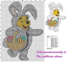 schema punto croce gratis winnie the pooh vestito da coniglietto pasquale