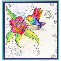 Laurel Burch Rubber Stamps - Crafts / Cardmaking / Hummingbird / Stamping - Memorycrafts.co.nz