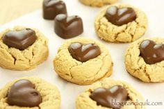 Peanut Butter Heart Blossom Cookies