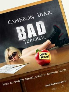 "Bad Teacher (Swiss) 27x40 Movie Poster (2011). CAST: Cameron Diaz, Lucy Punch, Jason Segel, Justin Timberlake, Phyllis Smith, John Michael Higgins, Dave Allen, Jillian Armenante, Matthew J. Evans, Kaitlyn Dever, Kathryn Newton, Igal Ben Yair, Aja Bair, Andra Nechita, Noah Munck; DIRECTED BY: Jake Kasdan;  Features:    27"" x 40""   Packaged with care - ships in sturdy reinforced packing material   Made in the USA  SHIPS IN 1-3 DAYS"