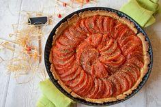 Tarte à la tomate et à la moutarde Smitten Kitchen, Ratatouille, Quiche, Apple Pie, Tacos, Healthy Recipes, Vegan, Cooking, Ethnic Recipes