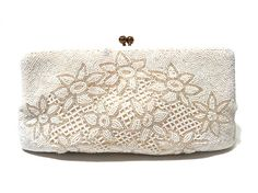 Vintage Beaded Bag Clutch Purse Evening Bag Walborg 1950s
