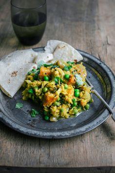 Novice Yogi's Kitchari - Basmati and Split Peas with Indian spices, vegetables and fresh herbs
