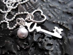 Hand Stamped Personalized Jewelry  Initial Necklace by BragAboutIt, $34.00