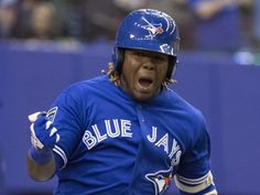 CHICAGO – As of Tuesday, baseball's top prospect, Vladimir Guerrero Jr., will be one step closer to the Blue Jays. Espn Baseball, Baseball Playoffs, Baseball Scores, Baseball Helmet, Baseball Pants, Baseball Field, Mlb Blue Jays, Hockey, Baseball Savings