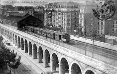 Les gares de la Petite Ceinture dans le 16e arrondissement - Gare du Point du Jour et Boulevard Exelmans (détruite)